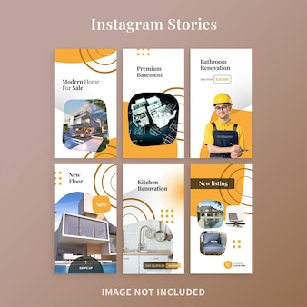 Moderne immobilien-instagram-geschichten