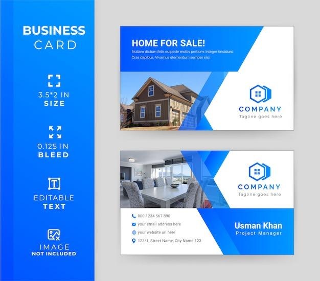 Moderne immobilien-visitenkarten