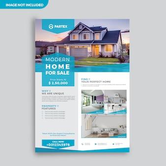Moderne immobilienmakler-werbeflyer-design-vorlage