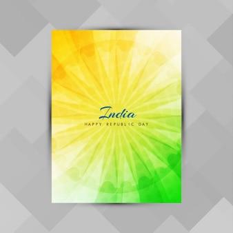 Moderne indische flagge thema broschüre vorlage