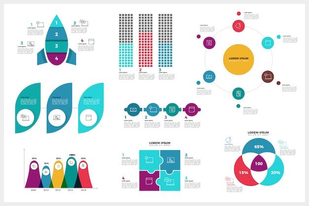 Moderne infografik-element-sammlung