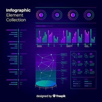 Moderne infografik elementsammlung