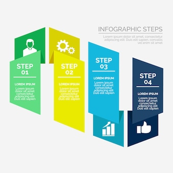 Moderne infografik im flachen design