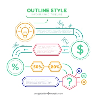 Moderne infografik mit lustigem stil