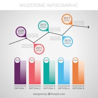 Moderne infografik mit originellem stil
