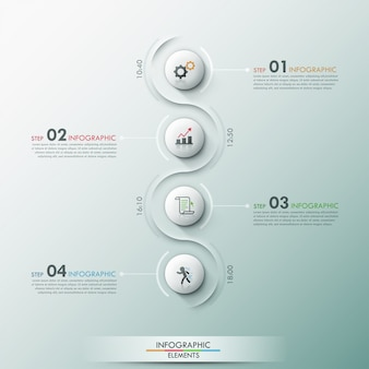 Moderne infografik-option banner