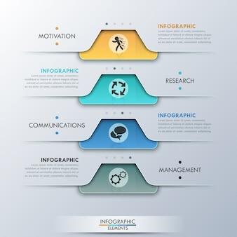 Moderne infografik-option banner