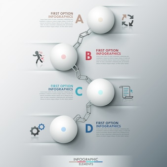 Moderne infografik optionen banner