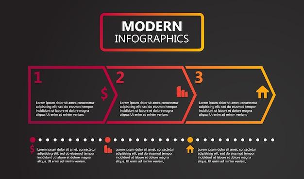 Moderne infografik-optionen vorlage