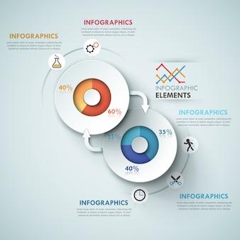 Moderne infografik-optionen-vorlage