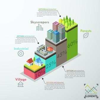 Moderne infografik-optionen