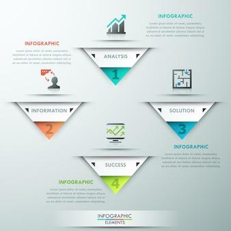 Moderne infografik-optionsvorlage