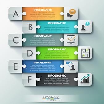 Moderne infografik puzzle-optionen banner