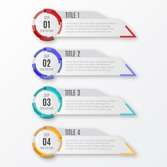 Moderne infografik-schritte