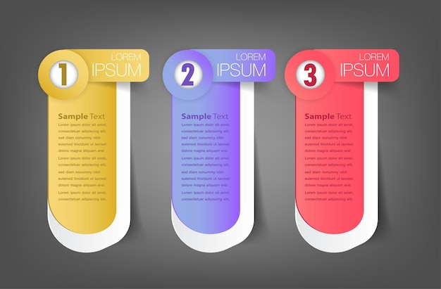 Moderne infografik textfeld vorlage infografik banner