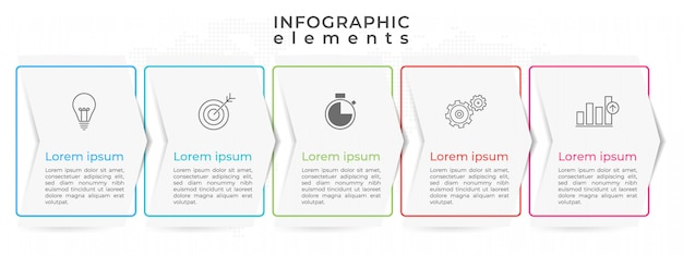 Moderne infografik timeline 5 option.
