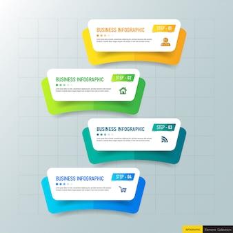 Moderne infografik vorlage 4 optionen.