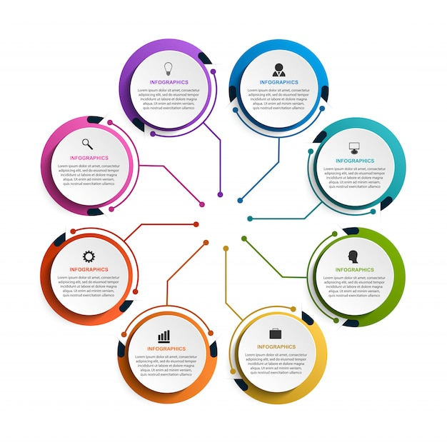Moderne infografik-vorlage für präsentationen.