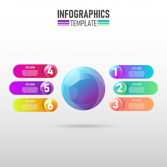 Moderne infografik-vorlage für unternehmen
