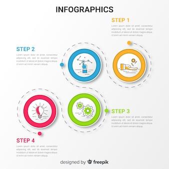 Moderne infografik-vorlage mit bunten stil