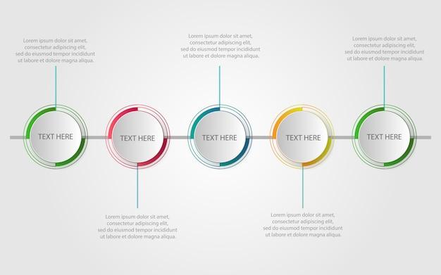 Moderne infografik-vorlage mit schritten