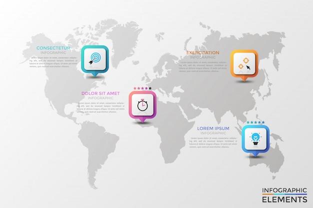 Moderne infografik-vorlage