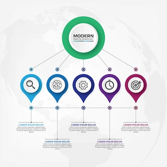 Moderne infografik Premium Vektoren