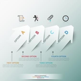 Moderne infografiken der wahlfahne 3d