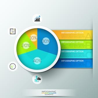 Moderne infografiken kreisdiagramm vorlage