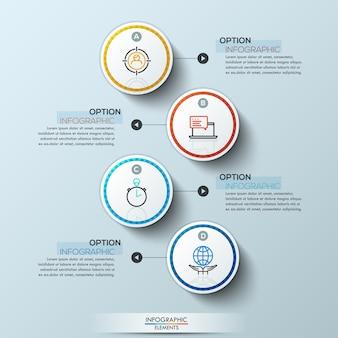 Moderne infografiken mit vier optionen