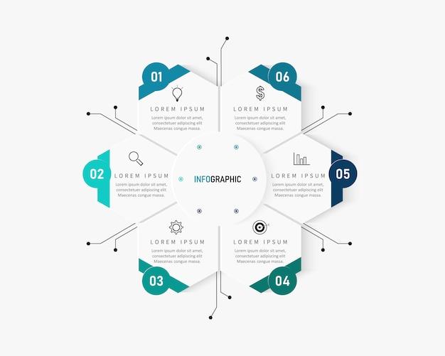 Moderne infografiken nummer optionen vorlage. illustration. kann für workflow-layout, diagramm, geschäftsschrittoptionen, banner und webdesign verwendet werden.