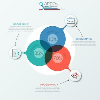 Moderne infografiken optionen banner bereichsdiagramm