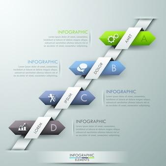 Moderne infografiken optionen banner