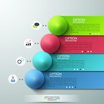 Moderne infografiken optionen banner
