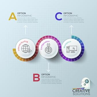 Moderne infografiken optionen vorlage.