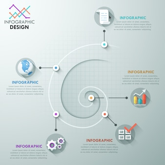 Moderne infografiken optionen vorlage