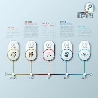 Moderne infografiken optionen.