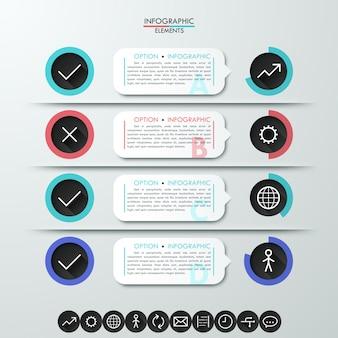 Moderne infografiken prozessvorlage