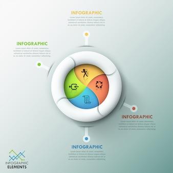 Moderne infografiken spirale optionen vorlage