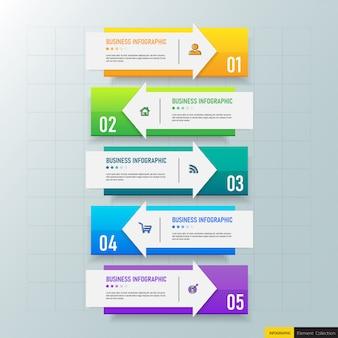 Moderne infografiken vorlage 5 optionen.