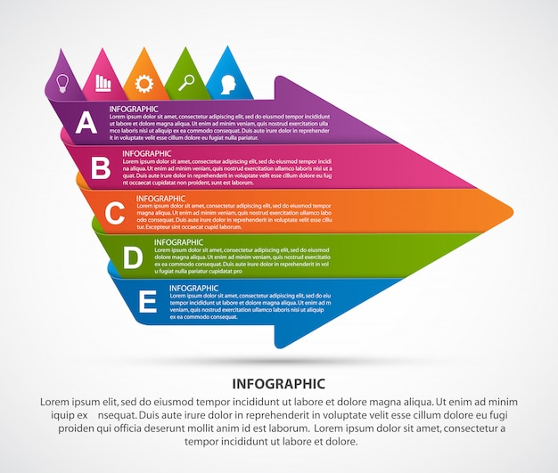 Moderne infografiken vorlage.