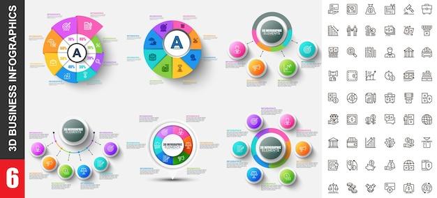 Moderne infografiken vorlage