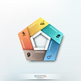 Moderne infografiken zyklus papiervorlage