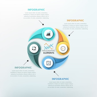 Moderne infografiken zyklusvorlage