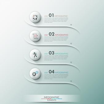 Moderne infographic wahlfahne mit kreisen 3d