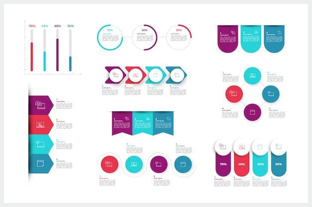 Moderne infographik elemente
