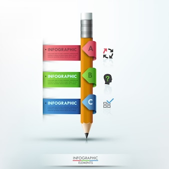 Moderne infographik vorlage