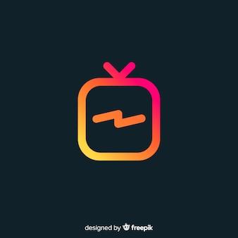Moderne instagram-komposition mit farbverlauf