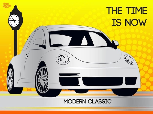 Moderne käfer fahrenden auto vector