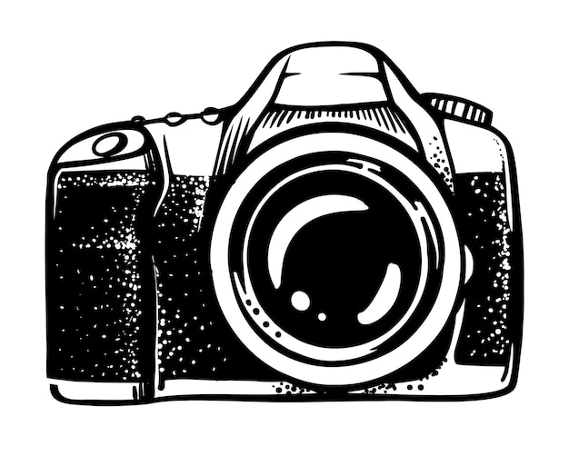 Moderne kamera im doodle-stil.